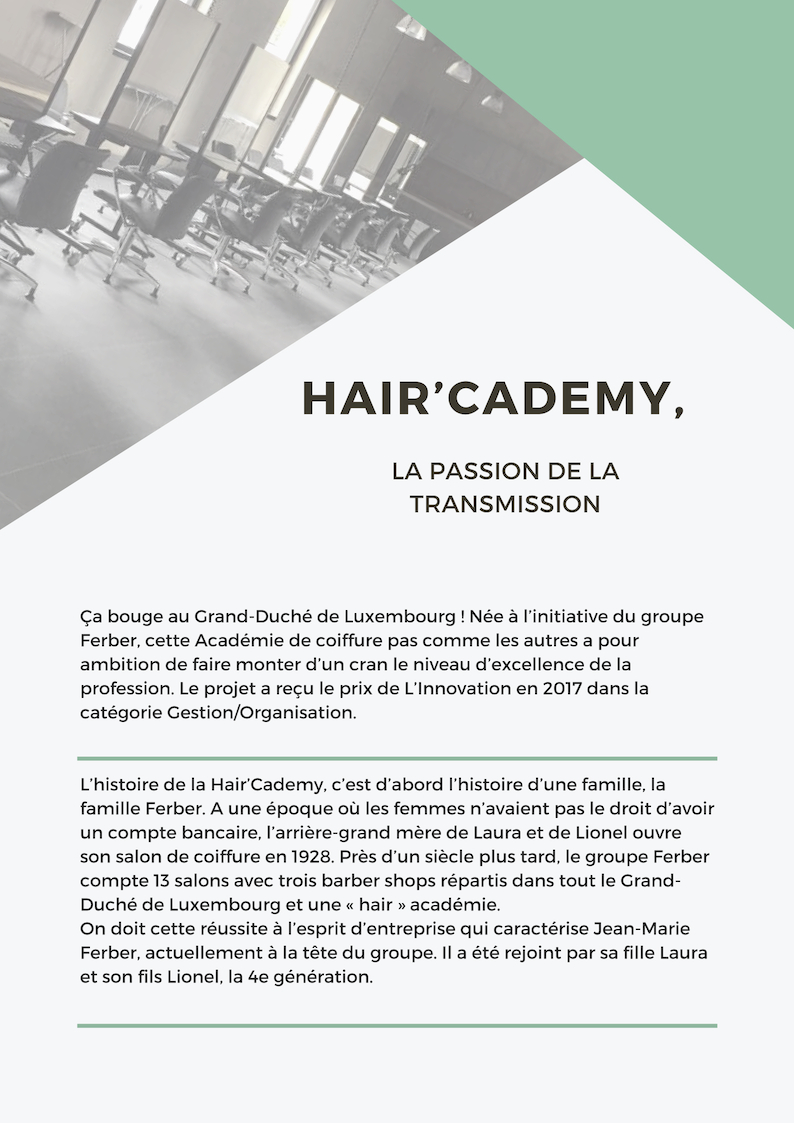 Haircademy Luxembourg